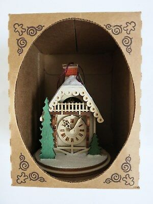 Ginger Cottages - Alpine Time Clock Shop wooden Ornament  #GC125, New USA