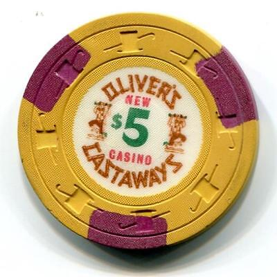 Vegas Nv OLIVER'S CASTAWAYS Casino Chip christy jones 1967 CR#N3939 Low Bk $75