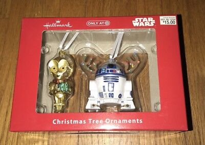 Star Wars C3PO R2D2 Christmas Holiday Ornament by Hallmark NEW IN BOX