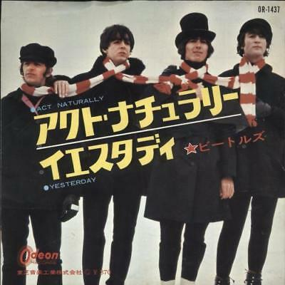 """Beatles Act Naturally 7"""" vinyl single record Japanese OR-1437 ODEON 1965"""