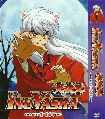 INUYASHA TV Series Box Set = Episodes 1-167 = English Audio = 12-DVD-Set