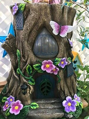 My Fairy Gardens Mini - Solar Stump Statue - Supplies NEW in box detailed paint
