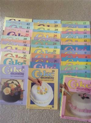 DEAGOSTINI-Cake Decorating The Complete Course Guide MAGAZINES BULK LOT 1 -43
