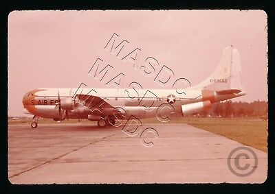 35mm Ektachrome Aircraft Slide - C-97D Stratofreighter 45-59595 DOORS OPEN 1950s