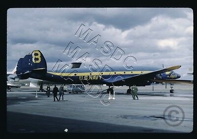 35mm Kodachrome Aircraft Slide - VC-121J Constellation BuNo 131623 BLUE ANGELS 8