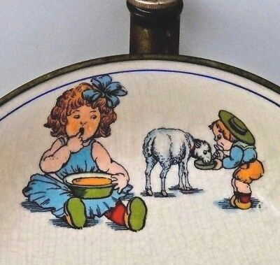 "Vintage Illustrated Baby/Child Food Warming Dish Bowl ""Mary Had Little Lamb"""
