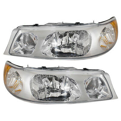 98-02 Lincoln Town Car Set of Headlights