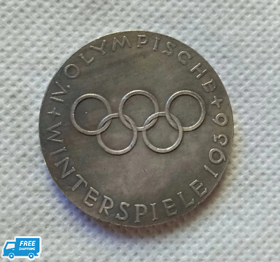 1936 WWII German Berlin Olympics medal medallion commemorative coins Free Ship