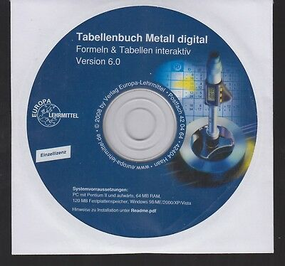 Tabellenbuch Metall Digital, Formeln Und Tabellen Interaktiv, Version 6.0