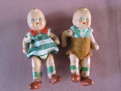 2 Miniatur Baby Puppe Masse Massepuppe vintage baby doll Germany DDR ? alt 12836