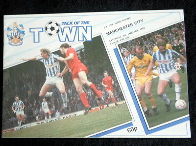 Huddersfield Town v Manchester City   FA Cup  3rd round      9-1-1988