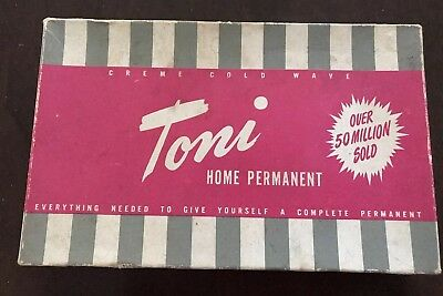 ' Toni' Vintage Boxed Home Permanent  Plastic Curling Set