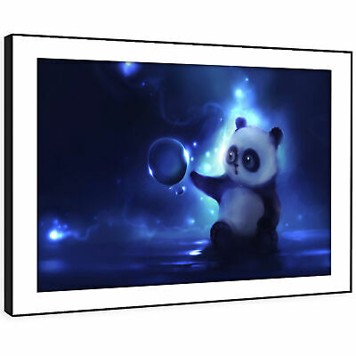 A782 White Back Blue Horse  Funky Animal Canvas Wall Art Large Picture Prints