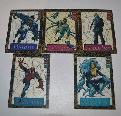 1994 Fleer Marvel Spider-Man SUSPENDED ANIMATION Cards x5