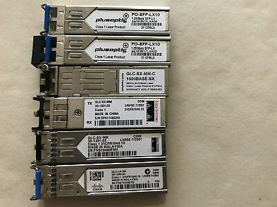 CISCO GIGABIT TRANSCEIVER MODULE GLC-LH-SM etc.