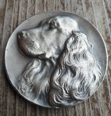 Jagd Spaniel Hund Cocker Medaille Chasse Zucht Dog Coin Foxhound Hunting Cane