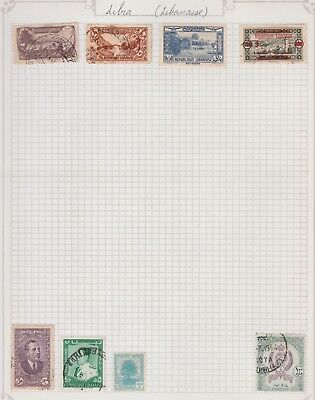 LIBIA Collection 1964 CANCEL, Early Issues, Landscapes, etc per scan USED MH #