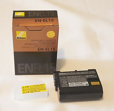 Nikon EN-EL15 Rechargeable Li-ion Battery - Genuine - NEW