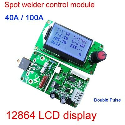 100A/40A Digital LCD Double Pulse Encoder Spot Welder Machine Time Control Board