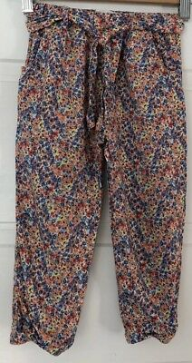 Zara Girls Adorable Floral Pants Size 3-4. So Cute On. Collect Or Post