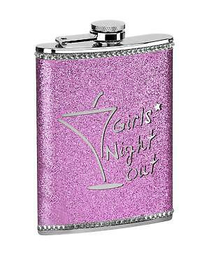 8oz Hip Flask Pink Girls Night Out Brand New High Quality Stainless Steel/Pink