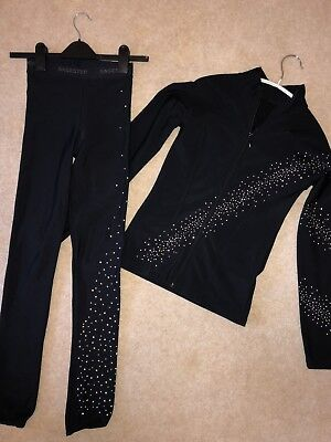 Ladies Girls Ice Skating SAGESTER -LEGGINGS only with SWAROVSKI S Impeccable Con