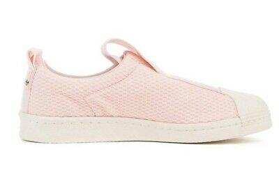 new product b2a52 ed38b Adidas Originals Superstar BW35 Slip On Ice Pink BY9138 Size 9.5