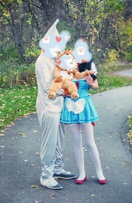 Family Halloween Costumes Set Wizard Of Oz Dorothy & Baby & Tinman
