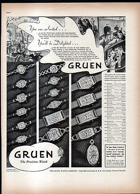 1937 Gruen Watch Co. Ad- Curvex