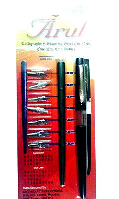 Art number 16 calligraphy pen set with calligraphy holder and 8 nibs