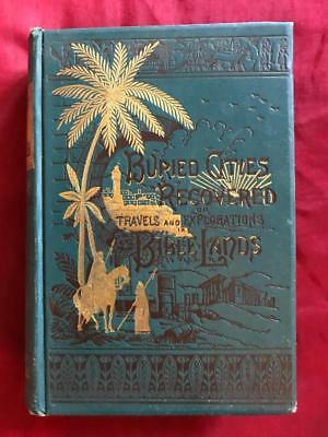 1884 Archaeology Holy Land Ancient Ruins Old Egypt Palestine Israel Islam Bible