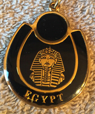 Egyptian Keychain Golden Key Chain Ring Acrylic Pharaoh Egypt