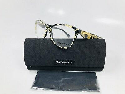 8773f1aed9b New Dolce Gabbana DG 3174 2745 Gold Leaf On Black Eyeglasses 54mm with Case