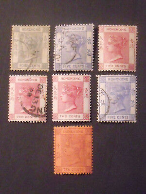 Early Hong Kong Victorian Stamps Lot VFU Fine MM