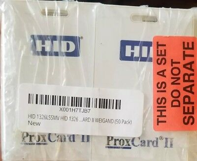 Hid proxcard ii 1326 50 Pack New