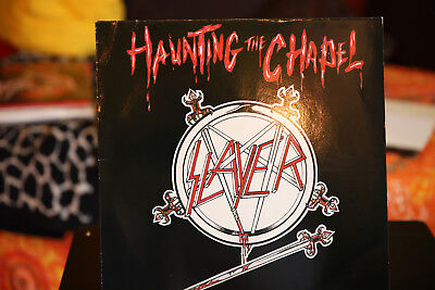 """Slayer - Haunting The Chapel 12"""", 45 RPM, EP Roadrunner Records - RR 125508 1984"""