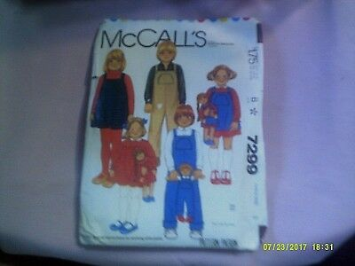 McCalls Pattern 7299 Size 3 Uncut Childrens Dress Jumper Overall