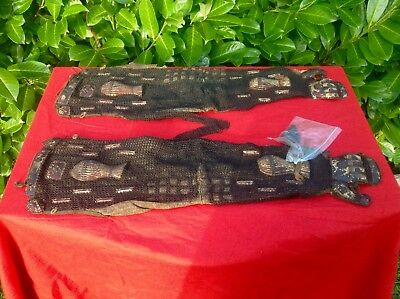 "Original Pair Of Antique Edo Period Japanese Samurai "" Kote"" Arm Gauntlets"