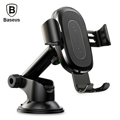 Baseus Sucker Gravity Car Mount Phone Holder Wireless Charger with USB cable