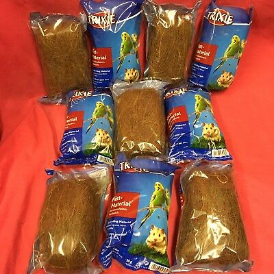 10 x Natural Coconut Nesting Fibre For All Birds & Small Animals 30g Digestible