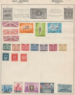 SAN MARINO Collection Olympics, Centenary, AIR, etc MUH as per scan #