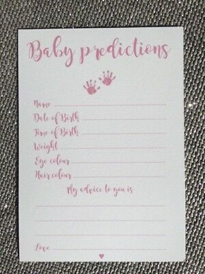 Baby Shower Games - Prediction & Advice Cards Blue & Pink New Mum To Be