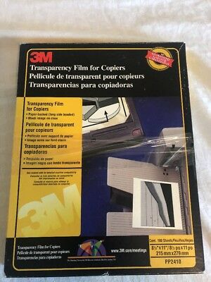 3M Transparency Film For Copiers Paper Backed PP2410 -97Sheets