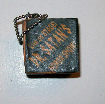 Unusual Unique Live On Stage Dr. Satans Horror Show Cubed Key Chain 6 Sided Pics