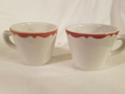 Vtg Lot 2 Mayer China 1953 Coffee Cup Mugs Beaver Falls PA Excellent condition