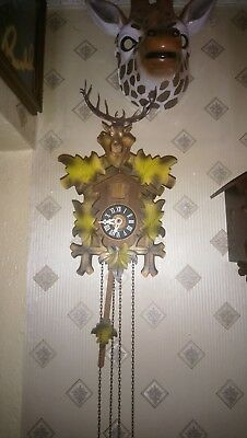 Vintage cuckoo Clock Black Forest 1 Day