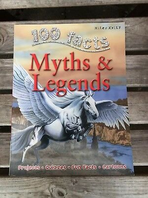 100 Facts on Myths and Legends by Fiona MacDonald NEW (Paperback) Book