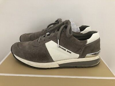 Michael Kors Allie Grey Trainer Size 7 Suede and Leather