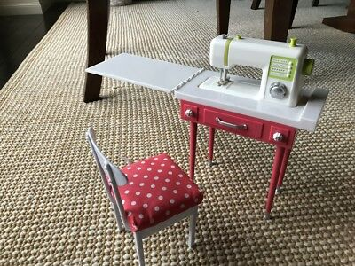 "18"" doll sewing machine table chair fr Our Generation American Girl"