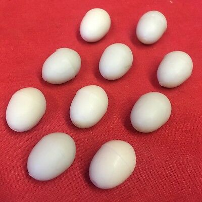10 X Canary Dummy Egg Breeding Replacement Plastic Pale Blue Linnets Finches Comfortable And Easy To Wear Other Bird Supplies